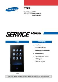 Руководство по техническому обслуживанию Samsung Yepp YP-P2
