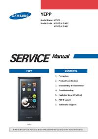 Instrukcja serwisowa Samsung YEPP YP-P3