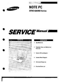 Руководство по техническому обслуживанию Samsung SENS 850 Series