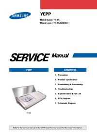 Serviceanleitung Samsung YEPP YP-S5