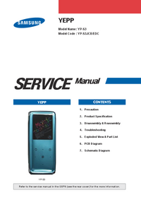 Servicehandboek Samsung YEPP YP-S3