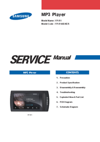 Instrukcja serwisowa Samsung YP-R1