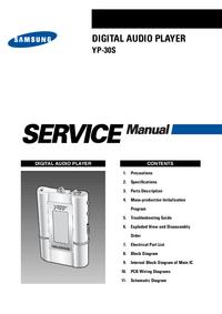 manuel de réparation Samsung YP-30S
