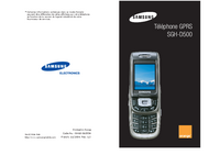 User Manual Samsung SGH-D500