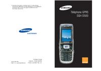 Руководство пользователя Samsung SGH-D500