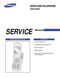 Manual de servicio Samsung SGH-Q200
