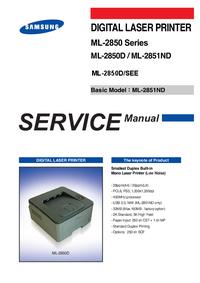 Servicehandboek Samsung ML-2850D