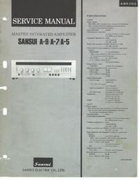 Manual de servicio Sansui A-7