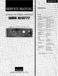 Instrukcja serwisowa Sansui AU-517