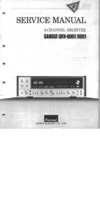 Manual de servicio Sansui QRX-9001
