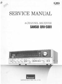 Instrukcja serwisowa Sansui QRX-5001