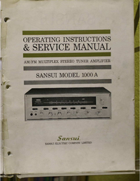 Service and User Manual Sansui 1000A
