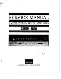 Manuale di servizio Sansui 4000