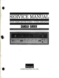 Servicehandboek Sansui 5000X