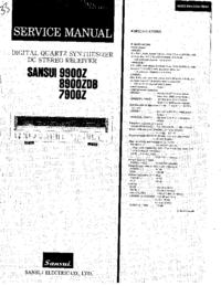 Manuale di servizio Sansui 8900ZDB
