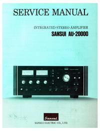 Руководство по техническому обслуживанию Sansui AU-20000