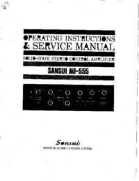 Service et Manuel de l'utilisateur Sansui AU-555