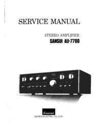 Service Manual Sansui AU-7700