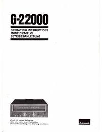 Manuel de l'utilisateur Sansui G22000