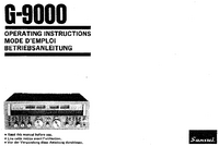 User Manual Sansui G9000