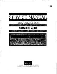 manuel de réparation Sansui QR4500