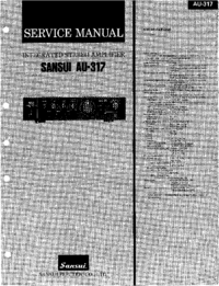 Servicehandboek Sansui AU-317