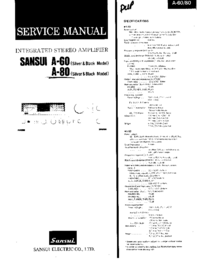 manuel de réparation Sansui A-60