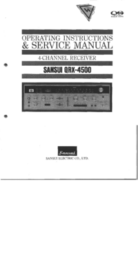Service and User Manual Sansui QRX-4500
