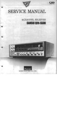 Manuale di servizio Sansui QRX-5500