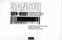 Manuel de l'utilisateur Sansui QRX_8001