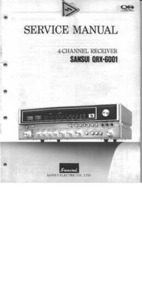 Руководство по техническому обслуживанию Sansui QRX-6001