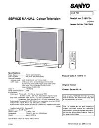 Service Manual Sanyo C29LF34
