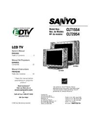 Руководство пользователя Sanyo CLT2054