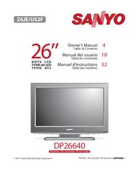 Manual do Usuário Sanyo DP26640