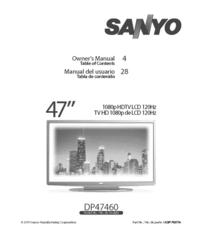 Manual del usuario Sanyo DP47460