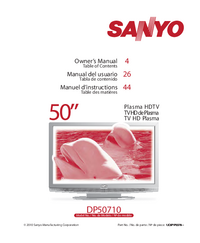 Instrukcja obsługi Sanyo DP50710
