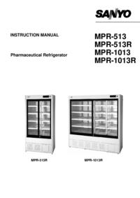User Manual Sanyo MPR-513