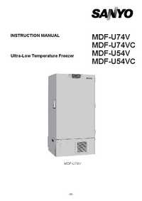 Instrukcja serwisowa Sanyo MDF-U74V