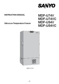 Servicehandboek Sanyo MDF-U54VC