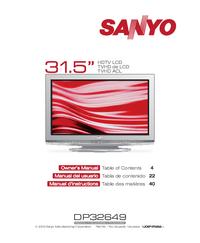 User Manual Sanyo DP32649