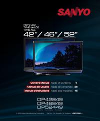 User Manual Sanyo DP46849