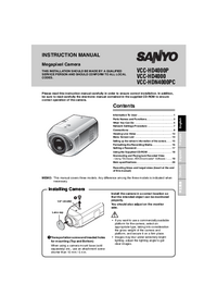 User Manual Sanyo VCC-HDN4000PC