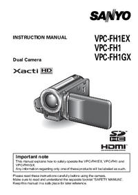 User Manual Sanyo VPC-FH1