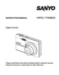 Gebruikershandleiding Sanyo VPC-T1060