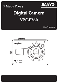 User Manual Sanyo VPC-E760