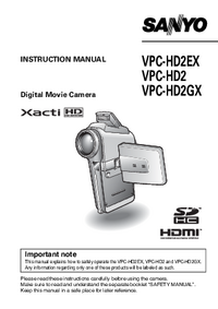 User Manual Sanyo VPC-HD2