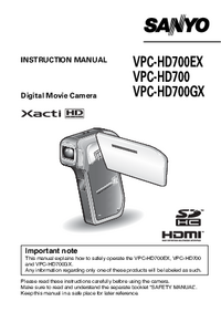 Manual del usuario Sanyo VPC-HD700GX