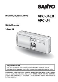 Gebruikershandleiding Sanyo VPC-J4EX