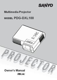 Руководство пользователя Sanyo PDG-DXL100