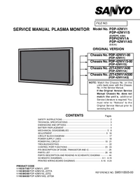 Service Manual Sanyo PDP-42WV1
